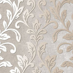 Norwall Silver Leaf Damask Tx34844 Wallpaper