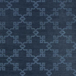 Scalamandre Suzhou Lattice Sisal Midnight Wallpaper