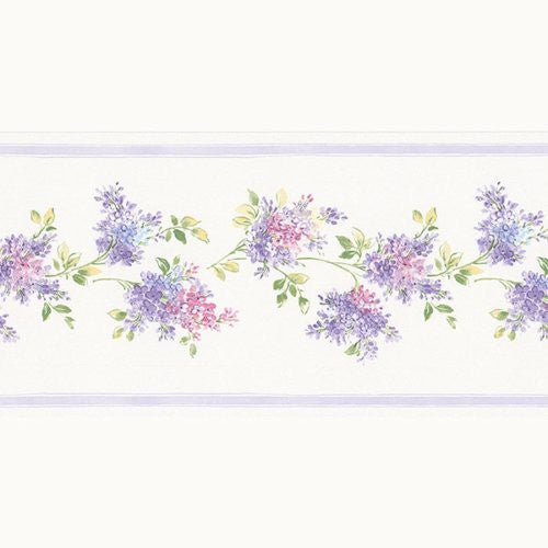 Norwall Lilac Fk78459 Borders - Wallpaper
