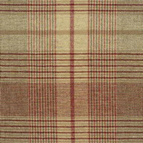 Mulberry London Check Red/Gre Fabric - Fabric