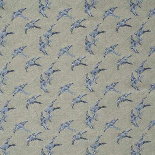 Mulberry Mallards Blue Fabric - Fabric