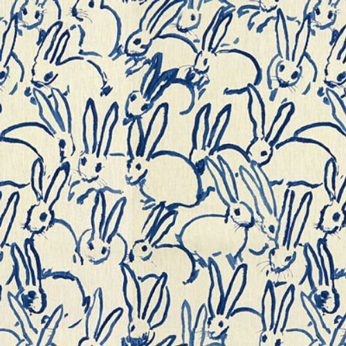 Groundworks Hutch Print Navy Fabric - Fabric