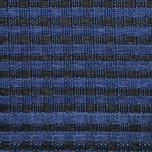 Old World Weavers Dale Horsehair Blue / Black Fabric - Fabric