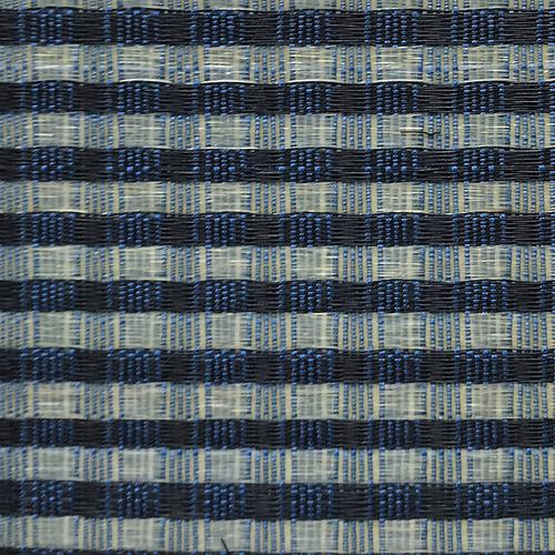 Old World Weavers Dale Horsehair Blue / Beige Fabric - Fabric