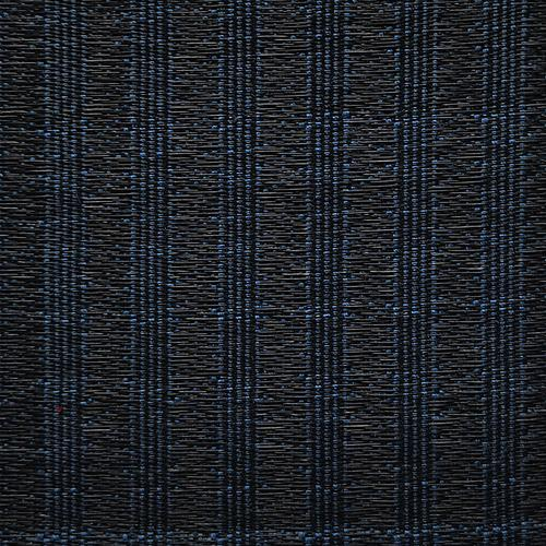 Old World Weavers Oldenburg Horsehair Blue / Black Fabric - Fabric