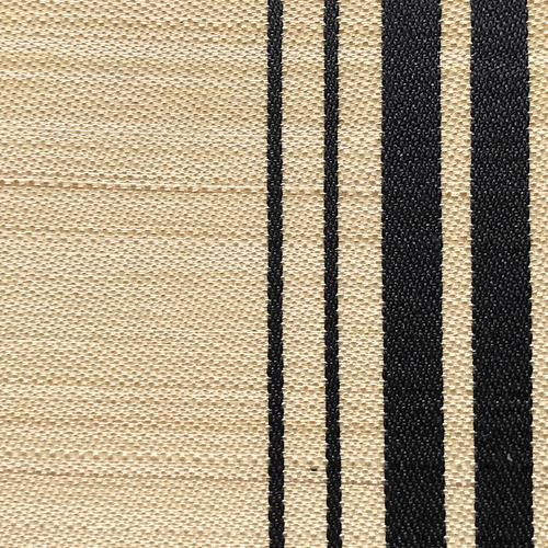 Old World Weavers Ardennais Silk Horsehair Black / Beige Fabric - Fabric