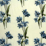 G P & J Baker Eden Embroidery Blue Fabric