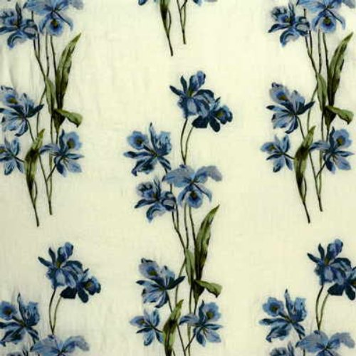 G P & J Baker Eden Embroidery Blue Fabric - Fabric