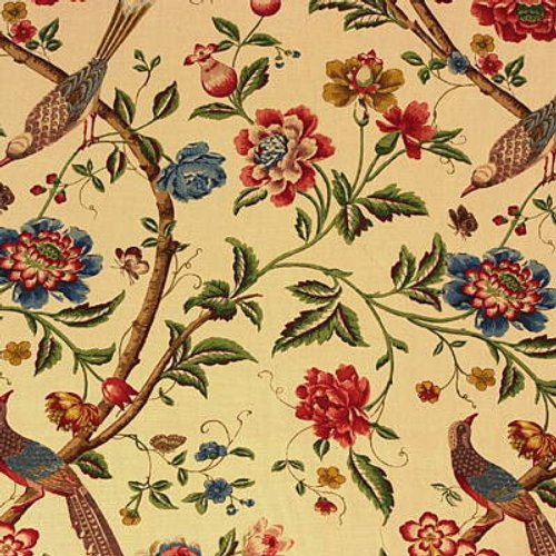 G P & J Baker Elinors Chinese Cream/Brick Fabric - Fabric