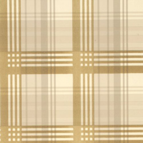 Mulberry Modern Tartan Flock Coffee/Cream Wallpaper - Wallpaper