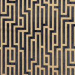 G P & J Baker Fretwork Anthracite Fabric