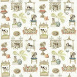 Kasmir Pampered Pooch Bone Fabric