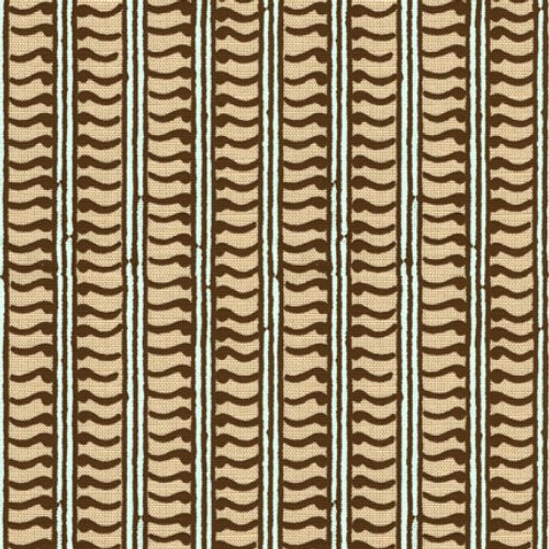 Groundworks Kali Choco/Aqua Fabric - Fabric