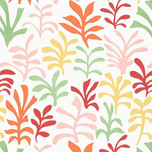 Schumacher Ode To Matisse Punch Fabric - Fabric