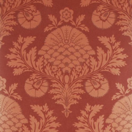 Mulberry Palace Damask Copper/Red Wallpaper - Wallpaper