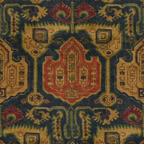 Lee Jofa Pamook Azure/Wine Fabric - Fabric