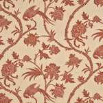 G P & J Baker Peplow Trail Red/Oatmeal Fabric