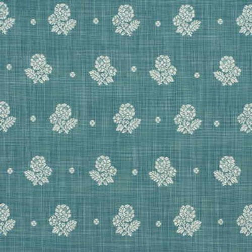 Mulberry Provence Flower Blue Fabric - Fabric