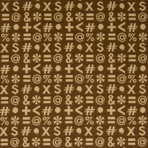 Fabricut Who,What,When? Tan Quotes Fabric - Fabric
