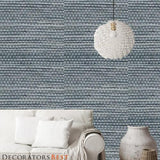 Phillip Jeffries Soho Hemp Broadway Blues Wallpaper
