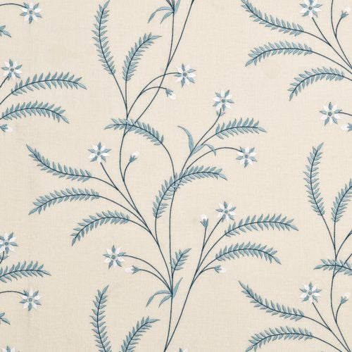 Baker Lifestyle Scampston Trail Blue Fabric - Fabric