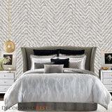 Phillip Jeffries Chevron Chic Natural Panache Wallpaper
