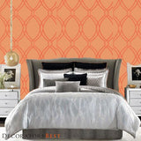 Decoratorsbest Geo Loops Saffron Wallpaper