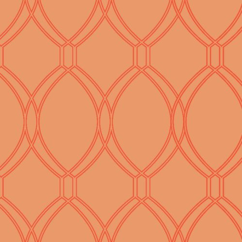 Decoratorsbest Geo Loops Saffron Wallpaper - Wallpaper