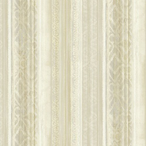 Scalamandre Callas Neutral/Gold Wallpaper - Wallpaper
