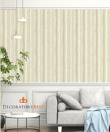 Scalamandre Callas Neutral/Gold Wallpaper