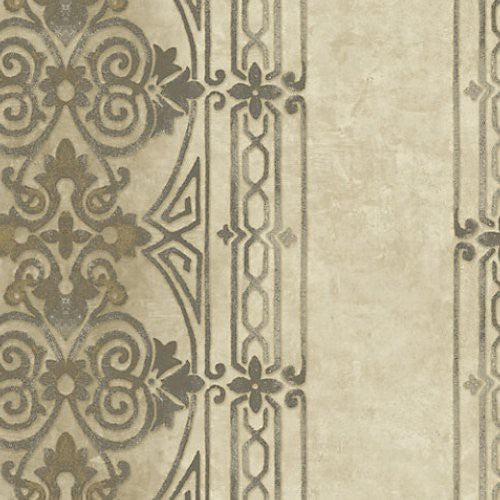 Scalamandre Grange Antique Gold Wallpaper - Wallpaper