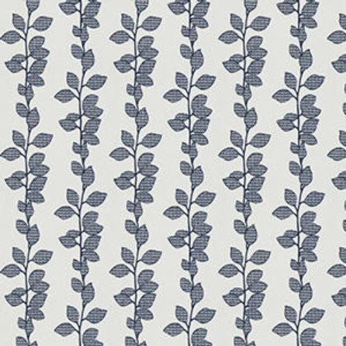 Fabricut Rosseau Leaves Navy Fabric - Fabric