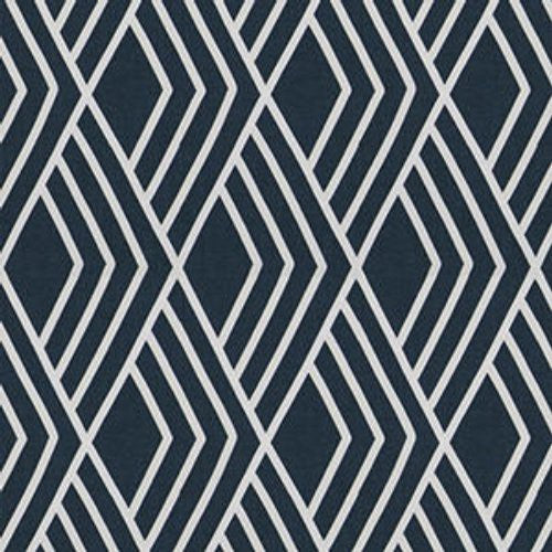 Fabricut Millan Diamond Navy Fabric - Fabric