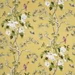 G P & J Baker Tree Peony Strong Yellow/Ivory Fabric
