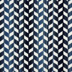 Schumacher Chevron Strie Velvet Lapis Fabric