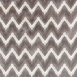 Schumacher Chevron Velvet Grey Fabric