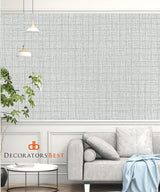 Scalamandre Tuxedo Linen Powder Wallpaper