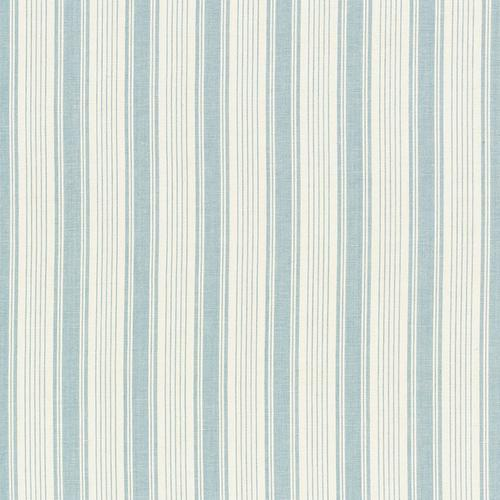 Schumacher Ojai Stripe China Blue Fabric - Fabric