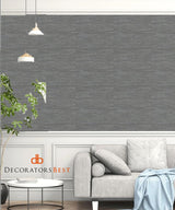 Scalamandre Pacifica Gunmetal Wallpaper