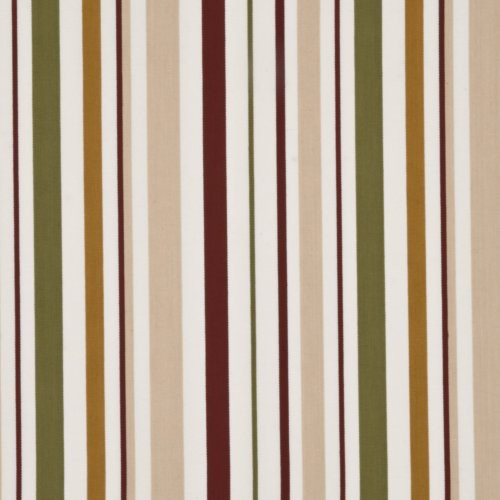 Baker Lifestyle West Green Stripe Spice/Green/Beige Fabric - Fabric