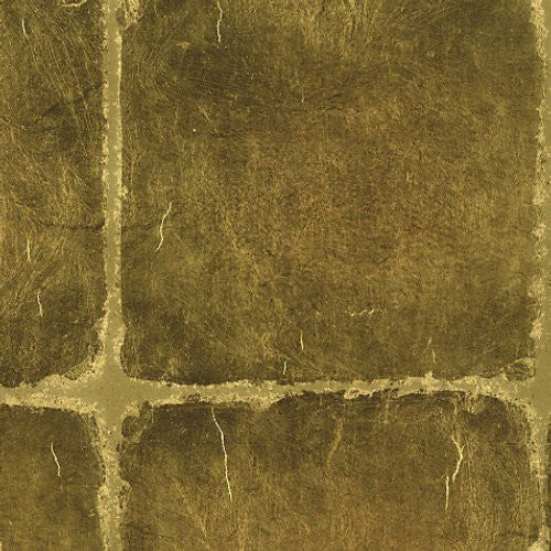 Scalamandre Gold Leaf Squares Oro Wallpaper - Wallpaper