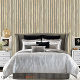 Phillip Jeffries Zebra Grass Earl Grey Wallpaper