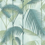 Cole & Son Palm Jungle Print Room Blue/Mint Wallpaper