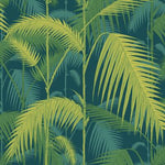 Cole & Son PALM JUNGLE PETROL/LIME Wallpaper
