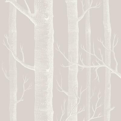 Cole & Son Woods Stone/White Wallpaper - Wallpaper