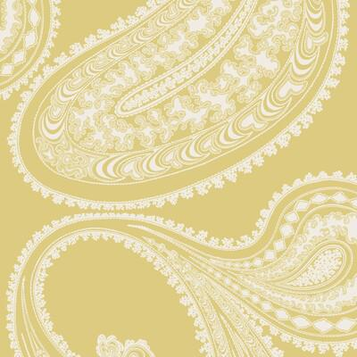 Cole & Son Rajapur Flock Yellow/White Wallpaper - Wallpaper