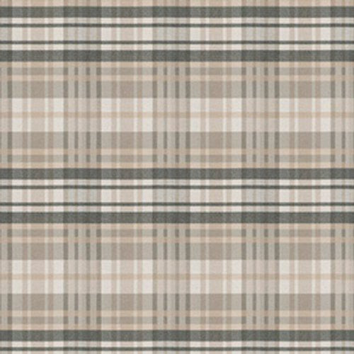 S. Harris Romy Plaid Taupe Fabric - Fabric