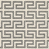 Schumacher A Maze Embroidery Black On Ivory Fabric