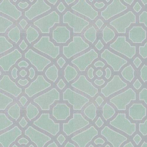 Fabricut Drama Lattice Haze Fabric - Fabric