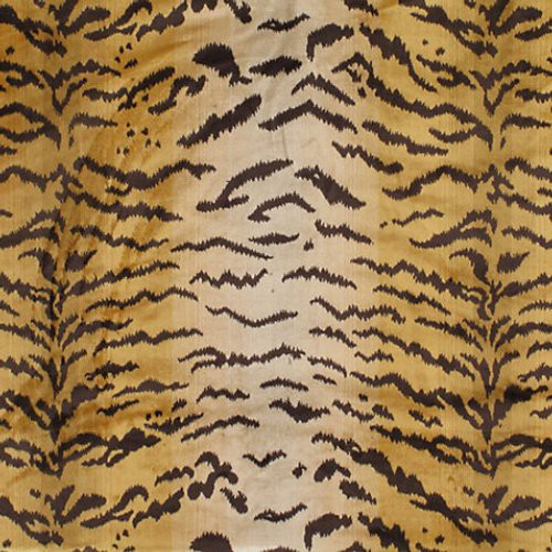 Old World Weavers Tiger Piccolo Brown/Gold Fabric - Fabric